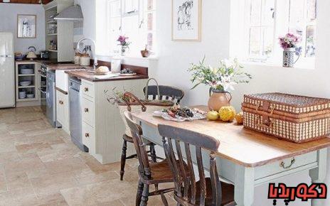 عکس ایده های استفاده از کفپوش در آشپزخانه